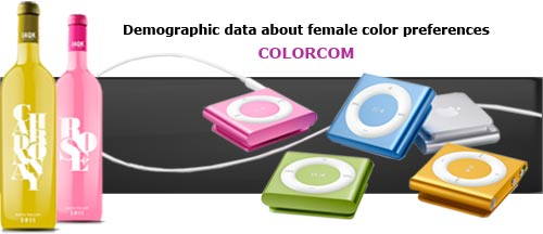 Female Color Preferences - Statistical data available at Colorcom