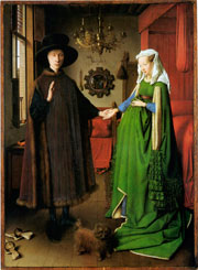 Giovani Arnolfini and His Bride by Jan van Eyck