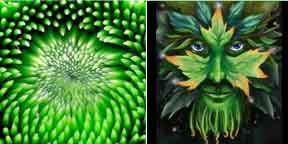 Green Vegetation & Pagan fertility god