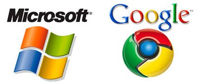 Chrome vs Windows color logo