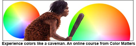 Caveman experiences of color