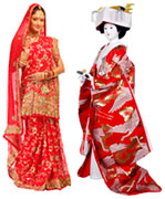 Red Bridal Wear - Asia