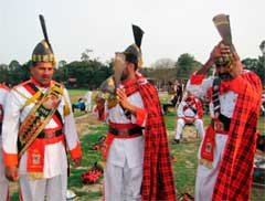 red bagpipers